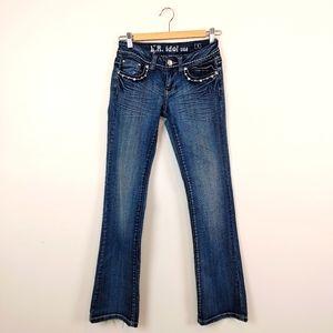 LA IDOL | Rhinestone Bling Blue Jeans Size 1
